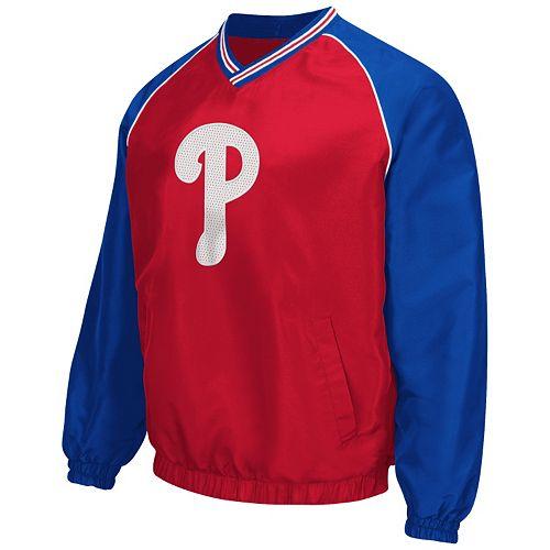 Men's Philadelphia Phillies Pullover V-Neck Jacket