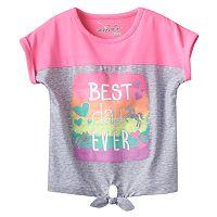 Toddler Girl Jumping Beans® Glitter Tie-Front Dolman Tee