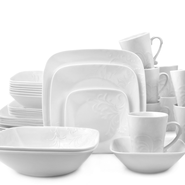 Square Dinnerware Set  sc 1 st  Kohl\u0027s & Corelle Boutique 42-pc. Square Dinnerware Set