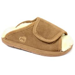 LAMO Women's Suede Peep-Toe Wrap Slippers