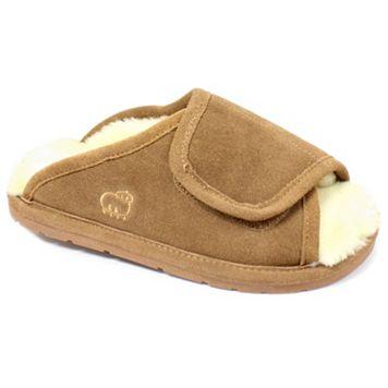 LAMO Women's Suede Peep-Toe Wrap Slippers