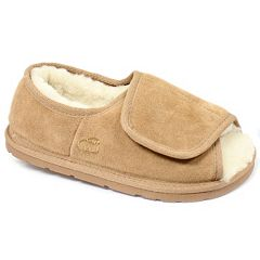 LAMO Women's Sheepskin-Lined Suede Slippers