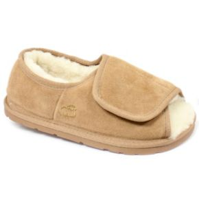LAMO Women's Sheepskin-Lined Suede Slippers