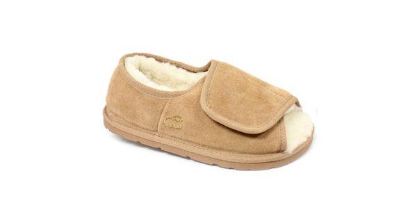 Lamo Women S Sheepskin Lined Suede Slippers