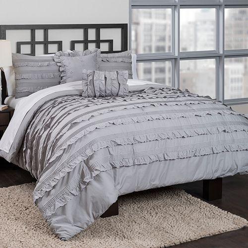 Republic Pintucked Ruffles Comforter Set