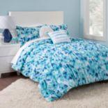 Seventeen Cerulean Floral Comforter Set
