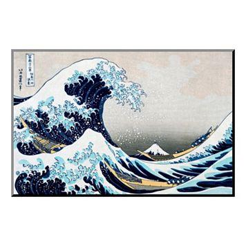 Art.com ''The Great Wave at Kanagawa'' Wood Wall Art by Katsushika Hokusai