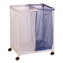 Honey-Can-Do 2-Bag Mesh Rolling Laundry Sorter
