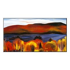 Art.com ''Lake George, Autumn, 1927'' Wood Wall Art by Georgia O'Keeffe
