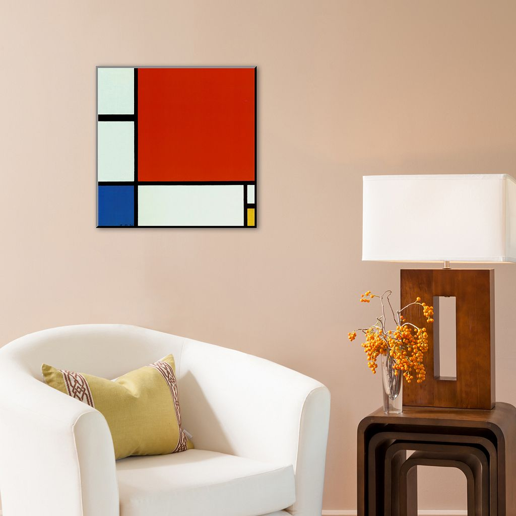 Art.com ''Composition with Red Blue Yellow'' Wood Wall Art by Piet Mondrian
