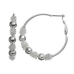 Croft & Barrow® Bead Hoop Earrings