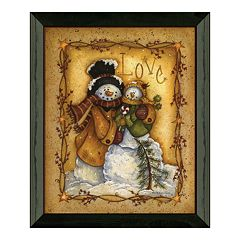 Timeless Frames Snow Folk ''Love'' Framed Wall Art