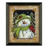 Timeless Frames ''Feather Friend'' Snowman Framed Wall Art