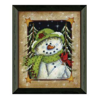 Timeless Frames ''Feather Friend'' Snowman Framed Wall Art