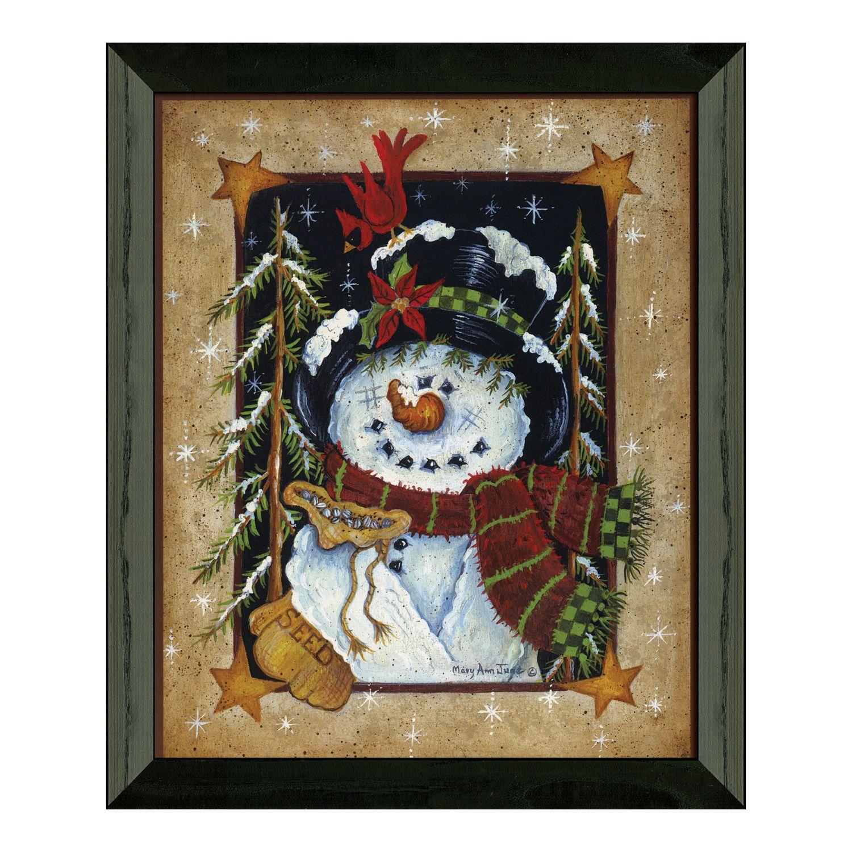 Beautiful Timeless Frames U0027u0027Feeding The Birdsu0027u0027 Snowman Framed Wall Art