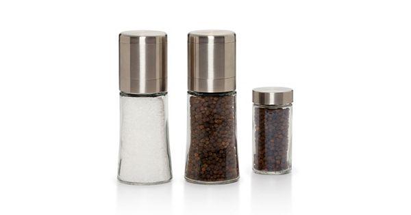 Kamenstein Elite 3 Pc Pepper Amp Sea Salt Spice Grinder Set