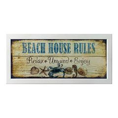 Timeless Frames ''Beach House Rules'' Framed Wall Art