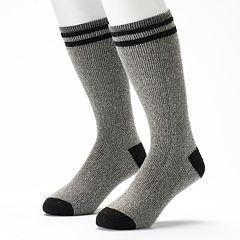 Columbia 2-Pack Striped Wool-Blend Performance Thermal Boot Crew Socks - Men
