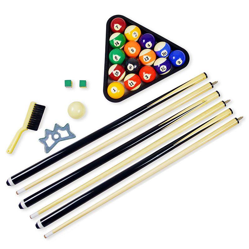 Hathaway Pool Table Billiard Accessory Set (Green)