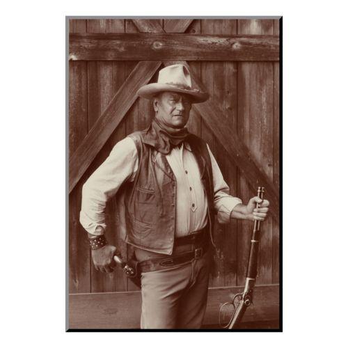 Art.com ''John Wayne'' Wood Wall Art by Bob Willoughby