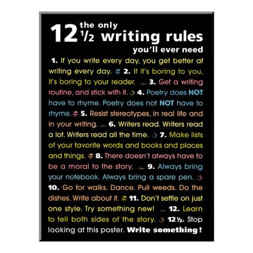 """Art.com """"The Only Writing Rules"""" Wood Wall Art"""