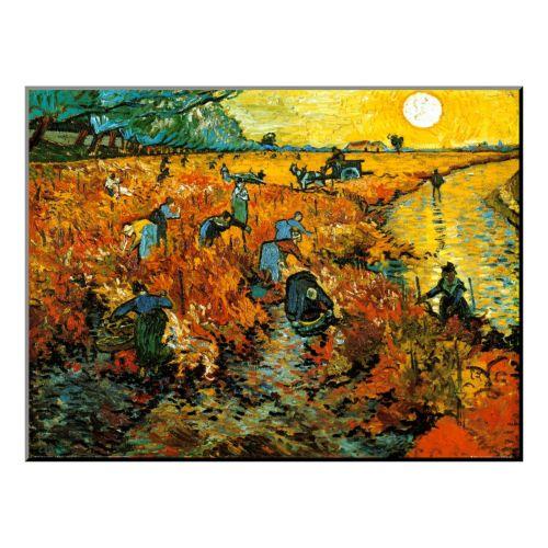 Art.com ''The Red Vineyard at Arles, c.1888'' Wood Wall Art by Vincent van Gogh