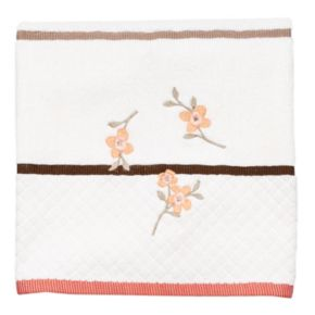 Coral Garden Embroidered Floral Bath Towel