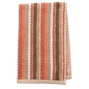 Coral Garden Striped Hand Towel