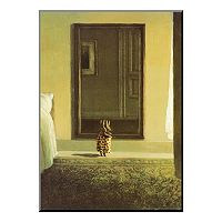 Art.com ''Bunny Dressing'' Wood Wall Art