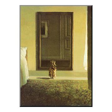 Art.com ''Bunny Dressing'' Wood Wall Art