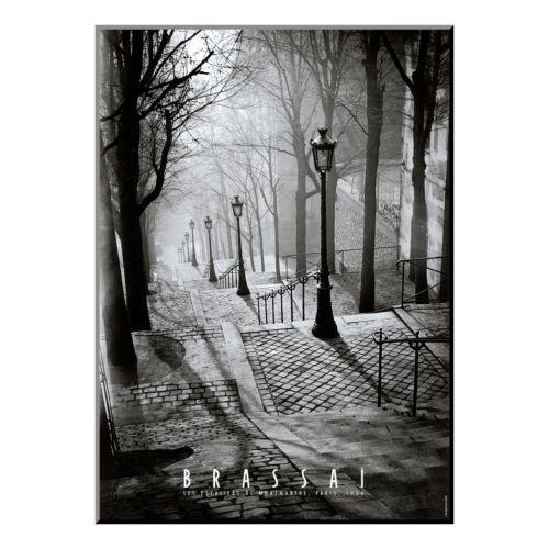 """Art.com """"Les Escaliers de Montmartre, Paris"""" Wood Wall Art"""