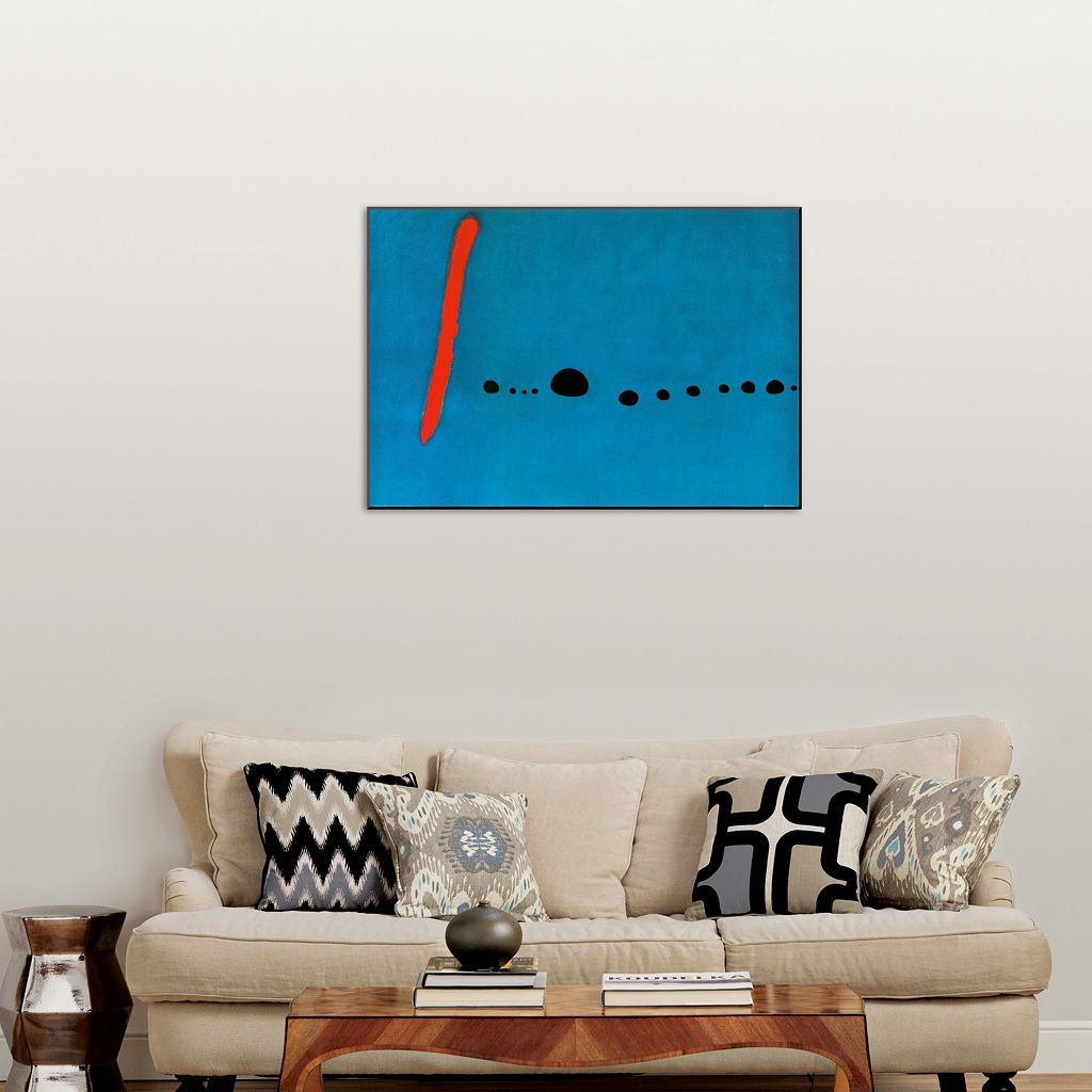 Art.com ''Bleu II'' Wood Wall Art by Joan Miró