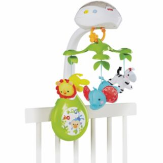 Fisher-Price 3-in-1 Deluxe Projection Rainforest Nature Bearries Mobile