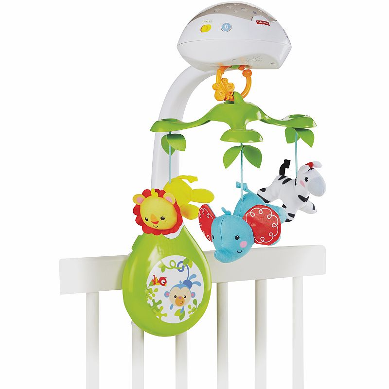Fisher-Price 3-in-1 Deluxe Projection Rainforest Nature Bearries Mobile ()