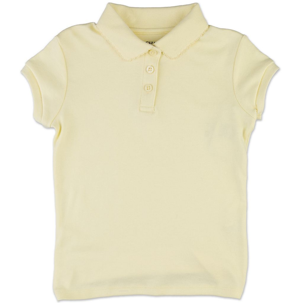 Girls 7-16 Chaps Picot School Uniform Polo