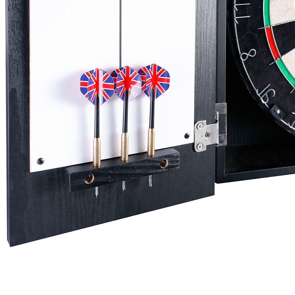 Hathaway Winchester Sisal Bristle Dartboard and Cabinet Set