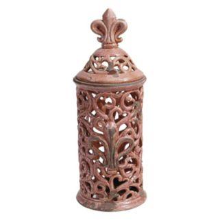 Fleur-De-Lis Decorative Jar