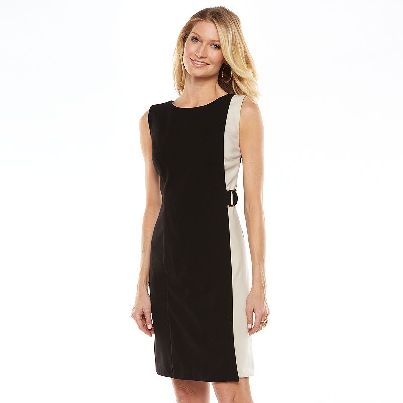 ab studio colorblock sheath dress women 39 s size