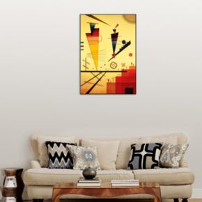 Art.com ''Merry Structure'' Wood Wall Art by Wassily Kandinsky