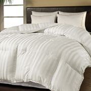 Royal Majesty DuraLoft Damask Stripe 500-Thread Count Down-Alternative Comforter