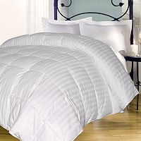 Royal Majesty Damask Stripe 350-Thread Count Down-Alternative Comforter