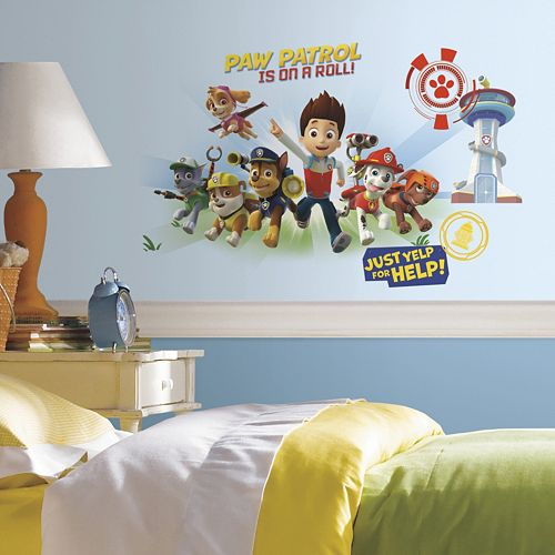 paw patrol giant wall decals. Black Bedroom Furniture Sets. Home Design Ideas