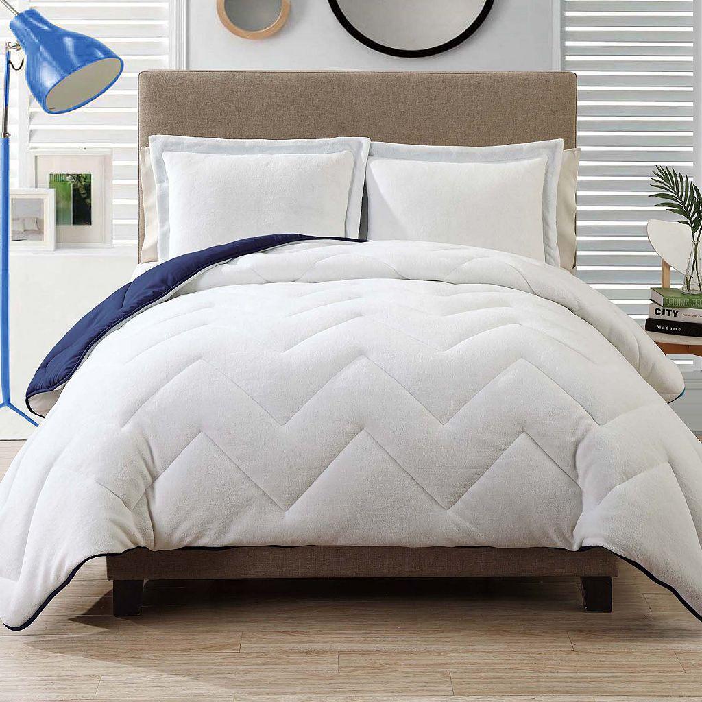 Caribbean Joe Down-Alternative Coral Fleece Reversible Comforter