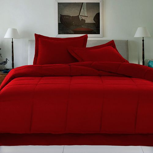Cotton Loft® Cotton Filled Down Alternative Comforter with Cotton Cover