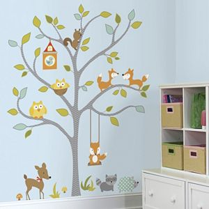 Woodland Fox and Friends Tree Wall Decals