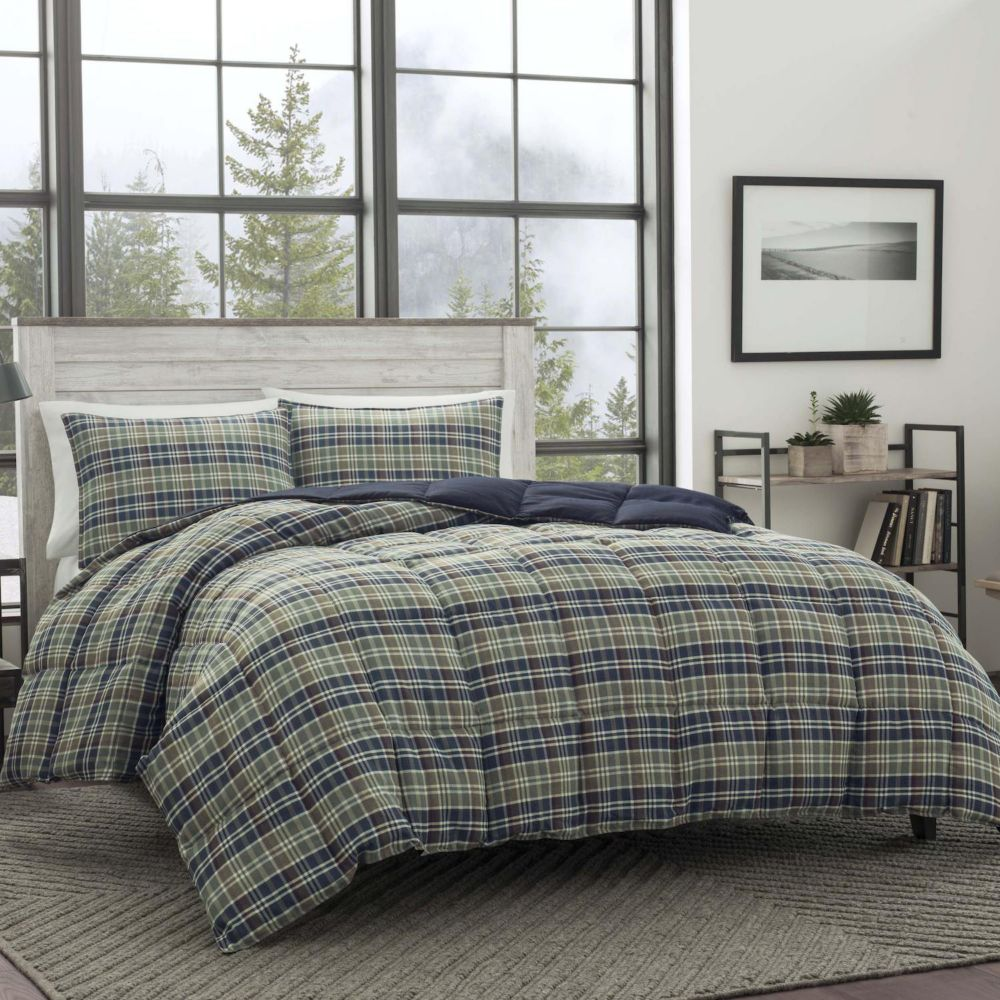 bauer rugged plaid down-alternative comforter set