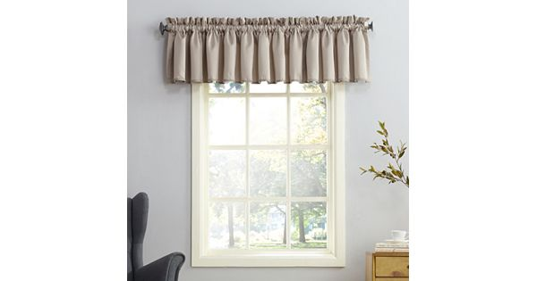 sun zero gramercy room darkening valance 54 39 39 x 18 39 39. Black Bedroom Furniture Sets. Home Design Ideas