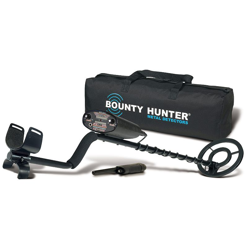 Bounty Hunter 3-piece Quick Draw II Adjustable Metal Detector Set, Multicolor
