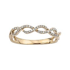 1/8 Carat T.W. Diamond 10k Gold Infinity Ring