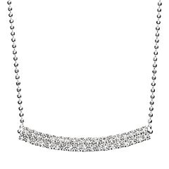 Duchess of Dazzle Crystal Silver-Plated Curved Bar Link Necklace